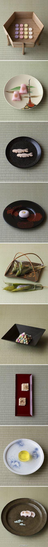 """木村宗慎:一日一叶—— 茶道有着诸多形式与约束,木村尝试符号化的试验,在体验传统茶道时开始一期一会的茶会。茶会的印象因茶室的氛围而变,其中叶子亦会由承载的器皿而左右茶室的表情。茶会的准备是""""选择""""的开始,选适宜的叶子,择相应的器皿,同为生命结缘相遇,一期一会而感知最美的一瞬 —— Japanese Pastries, Japanese Snacks, Japanese Sweets, Japanese Food, Japanese Wagashi, Matcha, Beautiful Japanese Girl, Tea Culture, Japanese Tea Ceremony"""