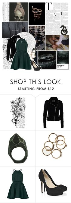 """""""Ilvermorny house: Horned Serpent (scholars)"""" by violetrose74 ❤ liked on Polyvore featuring Pennyblack, memento, Vero Moda, Lady Grey and Jimmy Choo"""