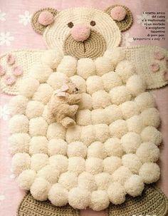 alfombra infantil de pompones