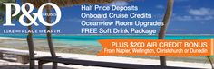 Fancy a cruise - fabulous deals for cruising from Auckland - loads of value.
