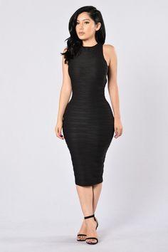 Stick To Me Dress - Black | Fashion Nova