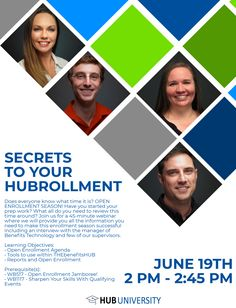 June Monthly Webinar – Secrets To Your HUBrollment! Event Poster Design, Typography Poster Design, Poster Designs, Graphic Design Lessons, Graphic Design Posters, Marketing Association, Business Invitation, What Time Is, Marketing Ideas