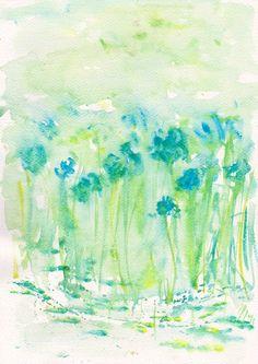 Art Painting  Original watercolor flower 8x11 floral by mallalu, $50.00