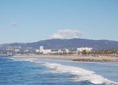 The Santa Monica coastline, Nov. 2012