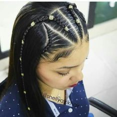 Inspiración peinados para niñas - Salud Y Belleza Natural para niñas Young Girls Hairstyles, Toddler Braided Hairstyles, Easy Little Girl Hairstyles, Baby Girl Hairstyles, Easy Hairstyles For Long Hair, Cool Hairstyles, Beauty Tips For Hair, Hair Beauty, Cool Hair Designs