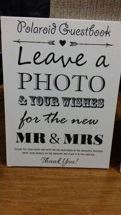 Diy Polaroid guestbook canvas sign
