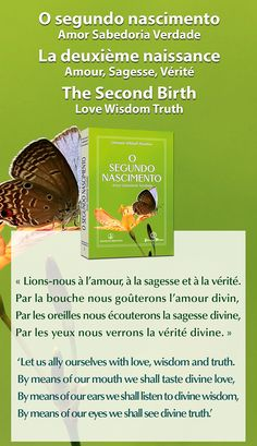 "Portugal - Nouvelle traduction du co-éditeur Publicações Maitreya : ""La deuxième naissance - Amour, Sagesse, Vérité"" / Portugal - New translation from co-publisher Publicações Maitreya: 'The Second Birth - Love, Wisdom, Truth' Français : www.prosveta.com/api/product/C0001FR English: www.prosveta.com/api/product/C0001AN"