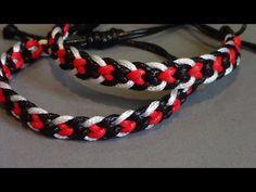 heart kumihimo with 8 strands Kumihimo Bracelet, Bracelet Crafts, Paracord Bracelets, Macrame Bracelets, Strand Bracelet, Link Bracelets, Friendship Bracelet Patterns, Friendship Bracelets, Different Braids
