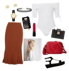 """""""With class."""" by bunnisexy ❤ liked on Polyvore featuring Victoria Beckham, Topshop, Valentino, Gucci, MAC Cosmetics, Tory Burch, MCM, Christian Dior and LULUS"""