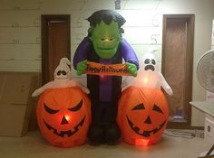 Gemmy Prototype Airblown Inflatable Halloween Monster Animated Rise Ghost 20112 | eBay