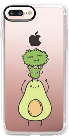 Casetify Protective iPhone 7 Plus Case and iPhone 7 Cases. Other Food iPhone Covers - Broccoli And Avocado. Best Friends. Funny Vegetables by Anna Alekseeva Kostolom3000 | Casetify