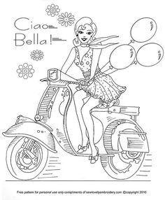 Free Ciao Bella Pattern ... by SewLovelyEmbroidery, via Flickr