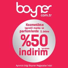 Boyner kozmetik reyonlarında Sevgililer Günü'ne özel ikinci ürüne %50 indirim! İşaretli ürünlerde büyük indirim fırsatı için sizi Tepe Nautilus Boyner'e bekliyoruz.