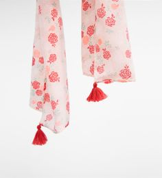 Image 3 of Floral scarf from Zara