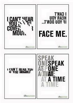 A set of 4 different size high resolution posters which raise awareness of deafness, and include communication tips. These eye catching posters would be ideal to display in your office, encouraging staff to think about the needs of deaf people, starti Deaf Quotes, Deaf Art, Libra, Hearing Impairment, Sign Language Phrases, Sign Language Interpreter, British Sign Language, Deaf People, Deaf Culture