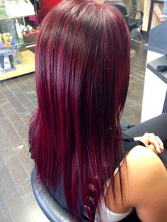 20 Awesome red violet hair color wella images Red Violet Hair, Violet Hair Colors, Purple Hair, Colored Hair Tips, Fashion Looks, Love Hair, Hair Dos, Hair Lengths, Hair Inspiration