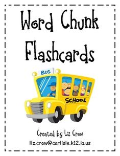 These word chunk cards can be used in so many ways in your classroom! This product includes 96 chunk cards and a list of suggested ideas. Great for use during Daily guided reading groups, reading interventions, and extra practice at home. Teaching Phonics, Teaching Language Arts, Kindergarten Literacy, Early Literacy, Literacy Activities, Teaching Reading, Kids Learning, Guided Reading, Phonics Words