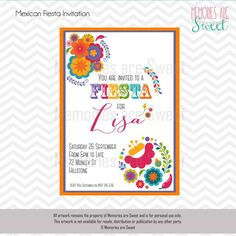 Mexican Fiesta invitation - Memories Are Sweet
