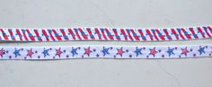 5/8 Fold over elastic  4th of July FOE  1 each by IsamayDesigns, $2.95