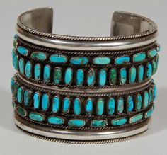 Cuff | Victor Begay (Diné - Navajo). Sterling silver, turquoise