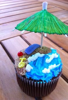 beach cupcake decorating ideas