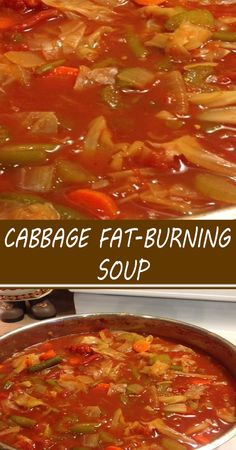 Cabbage Fat Burning Soup, Cabbage Soup Diet, Cabbage Soup Recipes, Healthy Soup Recipes, Cooking Recipes, Cabbage Stew, Healthy Snacks, Stomach Fat Burning Foods, Best Fat Burning Foods