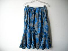 Vintage Flower Power Skirt by Baxtervintage on Etsy, $27.00