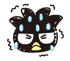 BAD BADTZ-MARU: Hand-Drawn Stickers | Line Sticker Sanrio Characters, Cute Characters, Disney Characters, My Little Pony Stickers, Korean Anime, Pet Day, Cartoon Gifs, Gif Pictures, Line Sticker
