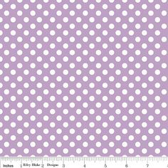 baby quilt made by pat   1 yard Riley Blake SMALL Dots    Lavendar / by BeeYourselfFabrics, $7.95