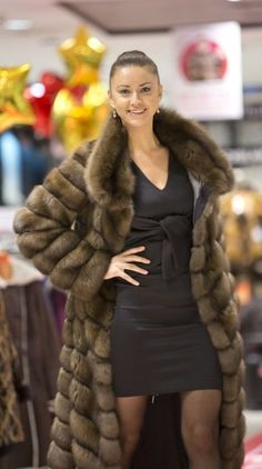 I don't agree with killing of animals...but this is beautiful! sable fur coat
