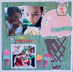 Layout by design team member Rebecca Keppel featuring Summer Vibes and My Favorite Things Dies