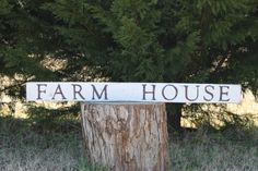 FARMHOUSE sign Reclaimed Wood by southernbellesign on Etsy