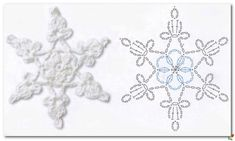 from Simply crochet issue 13 2014 Crochet Snowflake Pattern, Crochet Snowflakes, Crochet Doilies, Crochet Patterns, Snow Flakes Diy, Simply Crochet, Crochet Diagram, Thread Crochet, Christmas Time