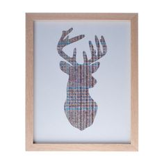 Tweed Stag Head Silhouette Picture - Large by Home Tweed Home