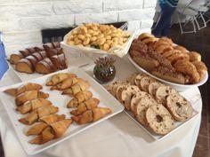 Birthday Brunch bread table