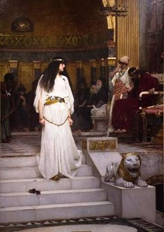 John William Waterhouse - Mariamne Leaving the Judgment Seat of Herod, 1887