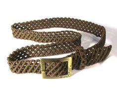 Macrame+Belt+Green+Forest+lace+woman+braided+belt+with+by+makrame,+$83.00