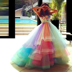 2016-robe-de-soiree-rainbow-colorful-prom