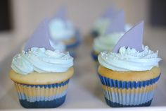 shark week has finally come! these are the perfect cupcakes to celebrate.