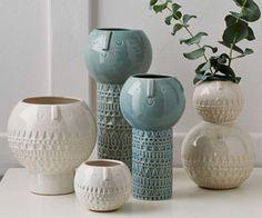 Atelier Stella Vasen / Atelier Stella vases ( at west elm! Ceramic Pottery, Ceramic Art, Slab Pottery, Ceramic Bowls, Pottery Barn, Stoneware, Desk Wall Unit, Mid Century Desk, Keramik Vase
