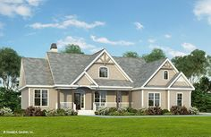 """ON THE HILL AGAIN"" TYPE A2 (63 × 43) 1865 SF = 1545 Main + 320 Bonus The High Pointe House Plan"