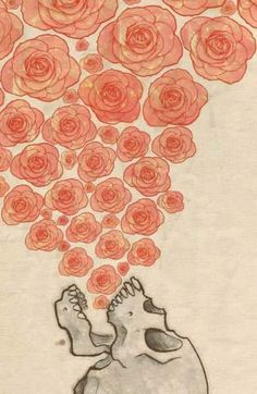 Scull & roses