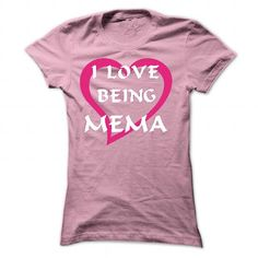 I love being Mema - #silk shirts #vintage t shirt. BUY-TODAY => https://www.sunfrog.com/Names/I-love-being-Mema-7401-LightPink-31099723-Ladies.html?id=60505