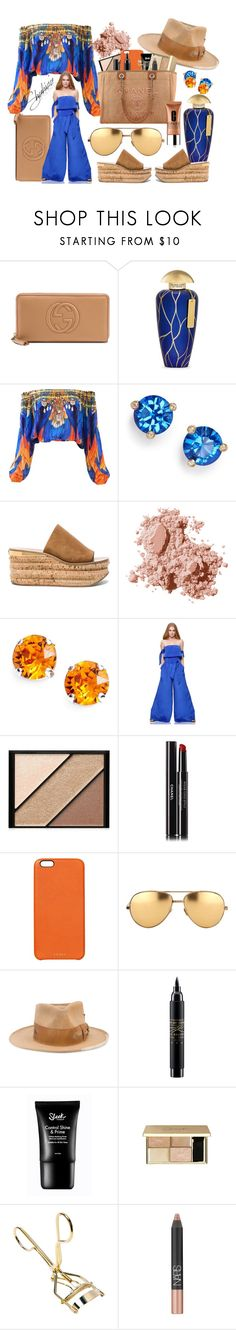 """""""Hot Right Now"""" by shahida-parides ❤ liked on Polyvore featuring Gucci, The Merchant Of Venice, Kate Spade, Chloé, Bobbi Brown Cosmetics, L. Erickson, Elizabeth Arden, Chanel, Chaos and Linda Farrow"""