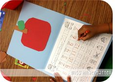 Miss Kindergarten: The First Week of School and Classroom Pictures - making calendars