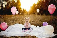 blanket and balloons