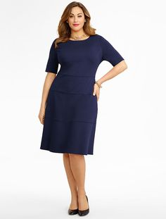 Talbots - Ponte Fit-And-Flare Dress | Dresses | Woman