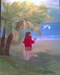 Painting Golden Palms 16x20 by CarterClassics on Etsy