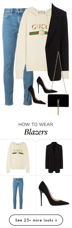 """""""Sem título #1536"""" by oh-its-anna on Polyvore featuring Levi's, Gucci, rag & bone, Jimmy Choo and Yves Saint Laurent"""