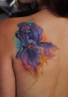 4ebc3c90e Iris watercolor tattoo by dopeindulgence - Tattoos Book - 65.000 Tattoos  Designs Unique Tattoos, Small